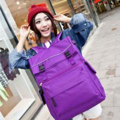 【リュック】リュックサック 巾着  大容量 無地 シンプル 通学/旅行 登山 スクール風 韓国式 バッグ【即納】