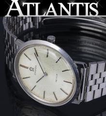 オメガ デビル メンズ 腕時計 手巻き 白文字盤