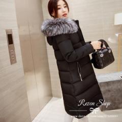 ダウンコート レディース  ロングアウター ダウンジャケット 秋冬 防寒 軽量 大きいサイズ  トップス おしゃれコート  ファーフード付き