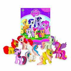 (英語版)海外書籍 「My Little Pony:My Busy Books(マイリトルポニー マイ ビジーブック)」 (本+ミニフィギュア12種)