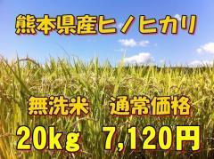 【無洗米】新米28年産九州熊本県産無洗米ヒノヒカリ20kg/5kg×4個/ひのひかり/白米