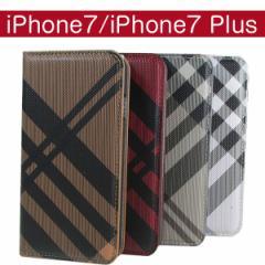 iPhone7 iPhone7 Plus ケース チェック柄 ダイアリー レザー 手帳型ケース スマホケース カバー アイフォン