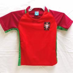 子供用 K013 ポルトガル 赤 17 ゲームシャツ パンツ付/選手選択/ロナウド/サッカー/キッズ/ジュニア