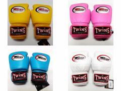 子供用 正規 TWINS 本格 ボクシンググローブ 2oz-M 4oz-L /色選択 赤/青/黒/白/黄/水/桃 小学生/新品/ムエタイ/本革製/マジックテープ式