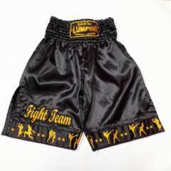 新品 サテン 90 LUMPINI ボクシング パンツ S/M/L/XL 選択 K1黒技 /ムエタイ/トランクス/通販/大人/キッズ/ジュニア/子供