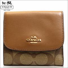 あす着 コーチ COACH 財布 三つ折り財布 シグネチャー PVC レザー スモール ウォレット f87589imbdx 新品