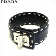 プラダ PRADA ブレスレット レザー ネイビー BALTICO アウトレット 1aj092-cica-baltico  新品