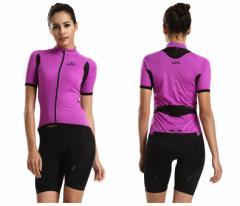 LZLサイクルジャージ上下セット/女性用自転車サイクルウェア半袖/春夏用サイクルジャージ普通タイプ ビブタイプ