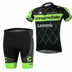 Cannondaleサイクルジャージ上下セット/男性用自転車サイクルウェア半袖/春夏用サイクルジャージ普通タイプ ビブタイプ