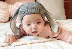 帽子 ニット帽 ベビー うさぎ ウサ耳 可愛い 防寒 暖かい 記念撮影 アート プレゼント 出産祝い 赤ちゃん お出かけ 【F137】