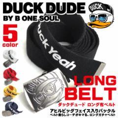 DUCK DUDE ベルト ダックデュード 布ベルト ロゴプリントがかっこいい GIベルト ロングガチャベルト ACCE-025