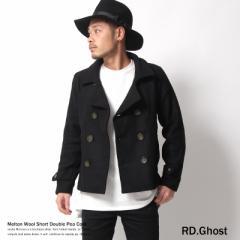 【送料無料】【RD.Ghost】メルトンウールショート丈ダブルPコート/メンズ/ピーコート◆5063【pre_d】