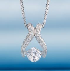 クロスフォーニューヨーク 「Venus」 NYP-551 揺れるダイヤ 可愛い 女性用 シルバー ネックレス 送料無料