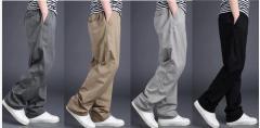 カーゴパンツ/お出かけ/メンズ カジュアル 少年 学生ズボン スキニー/ストレートパンツ ゆったり感無地薄手L~6XL大きいサイズ