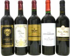 セレクションセレクト 赤ワイン5本セット ( フランスワイン 3本 イタリアワイン 1本 アルゼンチン 1本  ) 計750ml×5本