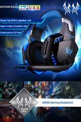 ゲーミングヘッドセット EACH G2000 FPSゲーム用ヘッドホン 高集音マイク LEDライト付 スマホ FPVゲーム 3.5mmイヤホンジャック