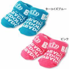 2/19一部再販 NEW ベビーソックス/ロゴ-雑貨 靴下 レッグウェア ベビーサイズ 新生児 ベビードール 子供服-8178