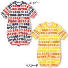 NEW♪MYFIRSTBABYDOLL_王冠ロゴ総柄2WAYオール(カバーオール/ドレスオール)-ベビーサイズ 新生児 ベビードール 子供服-8785B