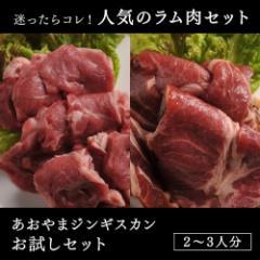あおやまジンギスカンお試しセット(特製ラム肉ジンギスカン・生ラムジンギスカン)