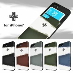 iPhone7 【cdm/シーディーエム】 「シェルケース/SKY」 ブランド IC カード収納