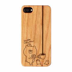 iPhone7 小鳥遊しほ 「souda yasumou case」 木製 スマホケース こまりくま