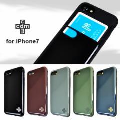 iPhone7 【cdm/シーディーエム】 「シェルケース/ロゴ」 ブランド IC カード収納