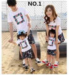 親子服 ペアルック 親子おそろい 親子 お揃い Tシャツ パンツ セット セットアップ キッズ 子供服 パパ ママ カップル 花柄