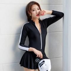 スカート付きビキニ 水着 泳ぎ 体型カバー フィットネス  レディース かわいい スポーズ スイミング