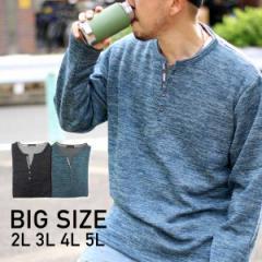 【送料無料】【大きいサイズ】メンズ Tシャツ 長袖 カットソー メンズファッション 大きいサイズ 2L 3L 4L 5L ニット セーター