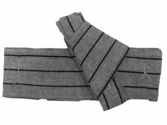 男物 軽装 角帯 グレー地 三本縞 柄no15
