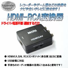 [送料無料]HDMI入力をコンポジット出力へ変換 1080P対応 変換コンバーター ドライバ