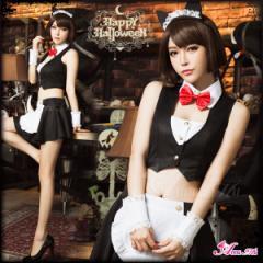 コスプレ 猫耳 カチューシャ メイド服 コスプレ メイド 猫 女豹 ネコ 黒猫 キャットウーマン コスプレ衣装