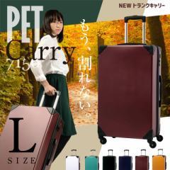 キャリーケース キャリーバッグ スーツケース Lサイズ PET7156 大型 トランクケース かわいい TSAロック 保証付 送料無料