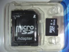 マイクロSDカード64GB・SDXC/UHS-1/CLASS10
