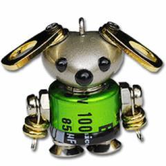 「NANONANO−M07green」 電子部品を使ったロボットアクセサリー・携帯ストラップ