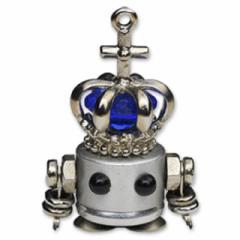 「NANONANO−KING bule」 電子部品を使ったロボットアクセサリー・携帯ストラップ