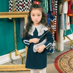 韓国子供服 I LOVE J アイラブジェイ マンハッタンマッチ ワンピース ij-JOFOP27-DA1C