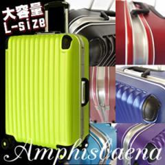 スーツケース、Wキャスター搭載 Lサイズ7〜14日用、大型。極深溝式フレームタイプ。人気 新作の同系色パーツで揃えた傷に強いマット加工