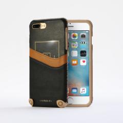 n.max.n New Minimalist Series iPhone8Plus , 7Plus対応 本革縫製ケース 画面カバー(フラップ)無しタイプ 【AP-PH7P-7401】 ブラック