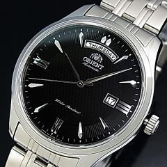ORIENT オリエント ワールドステージコレクション メンズ腕時計 自動巻 ブラック文字盤 メタルベルト JAPAN MADE 国内正規品 WV0241EV