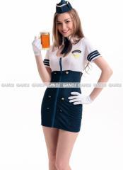 紺×白 ポリス コスプレ CA ワンピース ポリス 制服 婦警