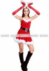 クリスマス/トナカイカチューシャ/サンタ衣装/コスプレ/ドレス ワンピース9460