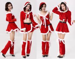 ★クリスマス特集 サンタ  Christmas 衣装  コスプレ サンタクロース コスチューム 3set
