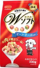 激安特売中【日本ペット】ビタワン君のWソフト ビーフ・チーズ入り 330g