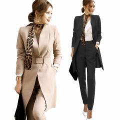 レディース ジャケット パンツスーツ フォーマル 七五三 セレモニー 2点セット 女性 スーツ オフィス 30代40代50代