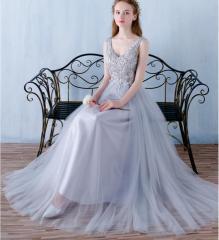 欧米風/レディース パーティードレス 結婚式 フォーマル ピアノブライズメイド ロングドレス/着痩せ ワンピース