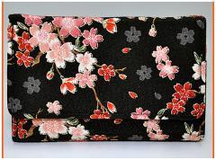 財布 メンズレディース 多機能三つ折り 和柄多収納さいふ おしゃれ手触りいいちりめん 使いやすい札入れ小銭入れカード入れサイフ(色206)