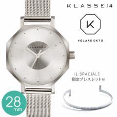 2年保証 KLASSE14 クラス14 クラッセ 腕時計 OK17SR001S OKTO 28mm IL BRACIALE ブレスレット付き VOLARE