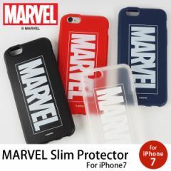 MARVEL Slim Protecter マーベルプロテクター iPhone7 ケース スマホケース カバー アメコミ マーヴェル ロゴ TPU 映画【メール便OK】