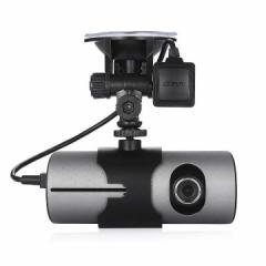 ハイビジョン 液晶GPS、 Wレンズカメラ、 Gセンサー 搭載 ドライブレコーダー 車内 車外 両方録画 SD対応  x3000